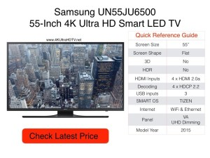 Samsung UN55JU6500 Quick Reference Guide